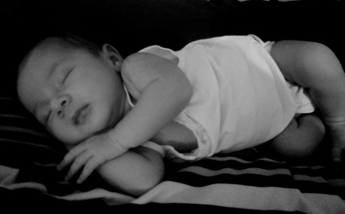 Moment with you Sleeping Lying Down Baby Close-up Happiness Black & White Blessed & Thankful :) Miracle Of Creation Enjoy The Little Things Moments Of Life Love♡ Gift From God Precious ❤ Lucky Charms Peacefull Beauty In Ordinary Things BabyPeony Baby Blossom Lucky Day  😍😌😊