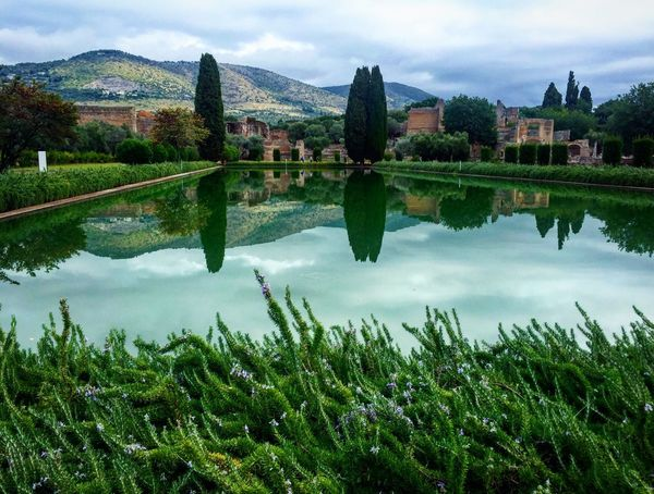 Villa Adriana, Tivoli, Italia Architecture Water Reflection Grass Green Color Nature Day Sky Outdoors Landscapes Italy Dolcevita  Villa Tivoli In Front Of Cloud - Sky Relax Tranquility Mountain