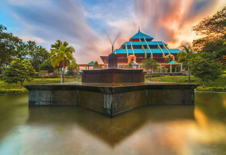 Mosque Batam Landscape_Collection Architecture Arsitektur Beauty In Nature Building Exterior Built Structure Cloud - Sky Day Landscape Landscape_photography Mosque Nature Outdoors Reflection Sky Tree Water Waterfront