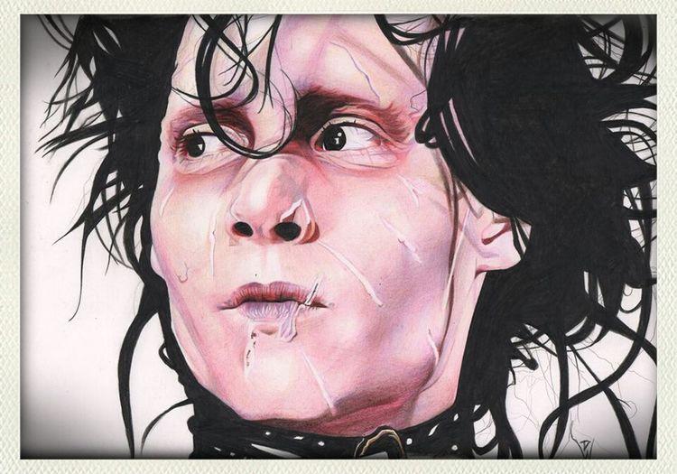 Check This Out Portrait Art Awesome colour pencil portrait of Edward Scissorhands