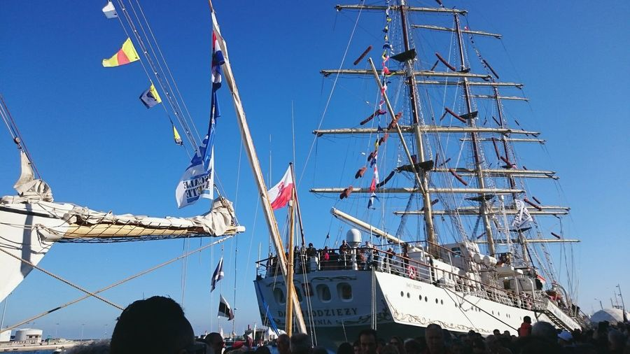 Voilier Croisiere Escale à Sète Boat Sailing Ship France Dar Mlodziezy