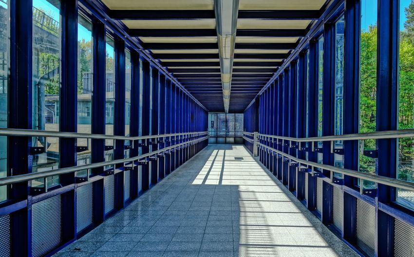 View Of Empty Elevated Walkway