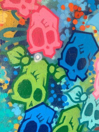 Full frame shot of graffiti wall