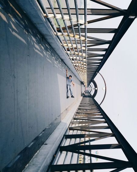 Architecture Day Built Structure Sky Architecture EyeEmNewHere Minimalism EyeEm Selects The Week On EyeEm Done That. Abstract Pattern City Smartphonephotograhy Phoneonly TheHangingCollection Leadinglines Leading Lines Bridge Symmetry Low Angle View Travel Destinations Rethink Things