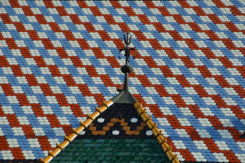 Full Frame Shot Of Colorful Roof