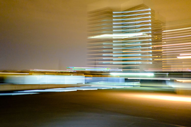 Hamburg Mundsburg Architecture Blurred Motion Illuminated Lighting Equipment Long Exposure Office Building Exterior