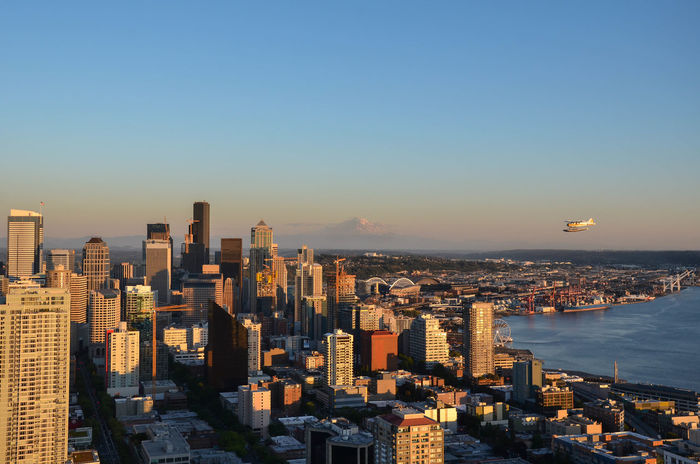 Seattle!? Have you ever seen the rain? Architecture City City And Mountain City And Nature City And Plane City And Sky City Skyline Citylife Downtown Downtown Seattle Evening Evening Sun Mount Rainier Not Dark Yet Office Building Exterior Plane Planes City Postcard Sky Skyscraper Spaceneedle Spaceneedleview Sunset Urban Skyline Waterplane EyeEmNewHere Adapted To The City Adapted To The City EyeEmNewHere EyeEmNewHere