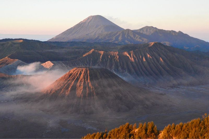 Mt Bromo Against Sky