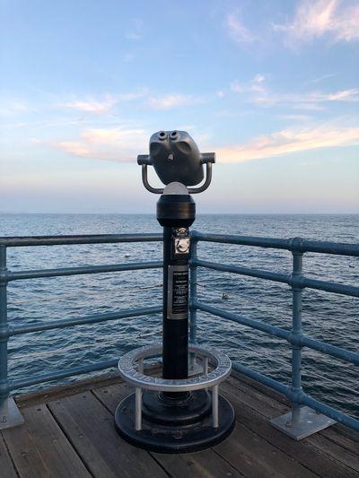 …at #SantaMonicaPier! Pacific Ocean Pier Water Sea Sky Horizon Over Water Cloud - Sky Horizon Scenics - Nature Coin-operated Binoculars Binoculars