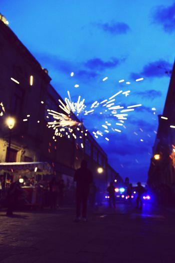 Cielo Fiesta Calenda Julio Azul Danza Vida