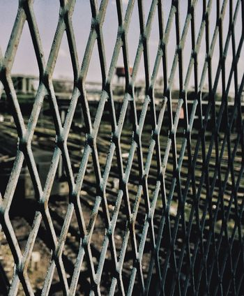 EyeEmNewHere No People Pattern Day Outdoors Sky Metal Full Frame Safety Backgrounds Art Is Everywhere Close-up Rail Transportation Rusty Lucknow👌City Cloud - Sky BYOPaper!