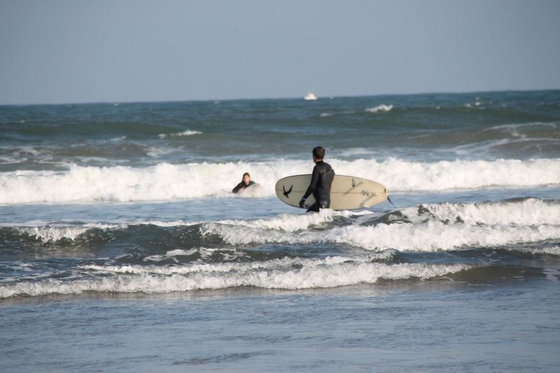 Sea One Person Real People Water Adventure Leisure Activity Horizon Over Water Men Waterfront Lifestyles Extreme Sports Nature Surfboard Wave Beauty In Nature Day Clear Sky Scenics Challenge Sport Check This Out EyeEm Best Shots Taking Photos Hanging Out Sports