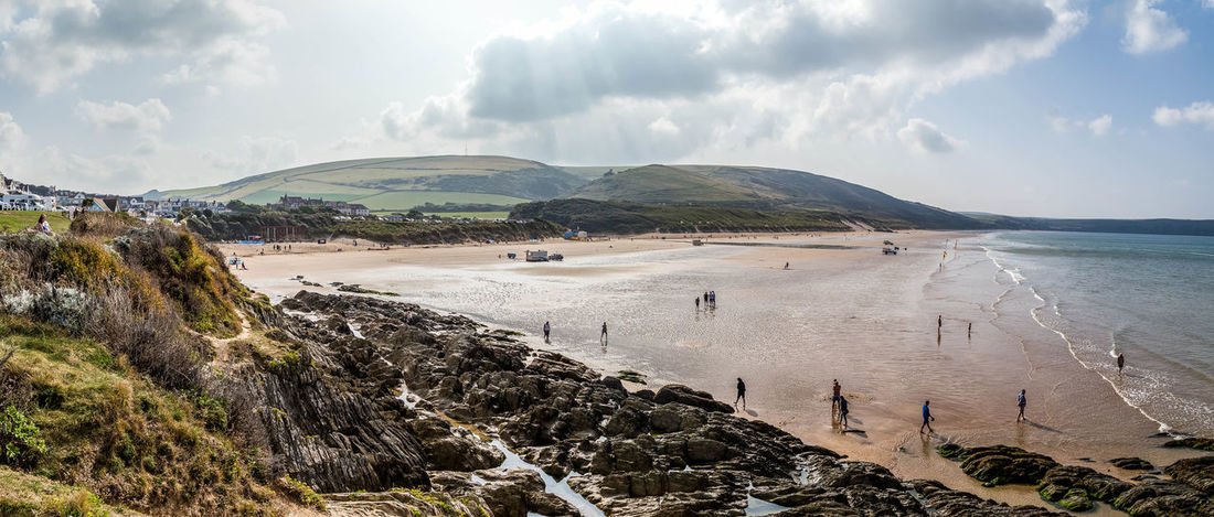Panoramic shot of Woolacombe beach in Devon, UK... Beach Beautiful Beach Beautiful Beaches Coastline Devon Devon UK Landscape Nature Pano Panorama Panoramic Panoramic Landscape Panoramic Photography Panoramic View Rock Pools Sand Sea Sky And Clouds Summer Uk Coastline Vacations Woolacombe Woolacombe Beach Woolacombe, Devon Woolacombebay
