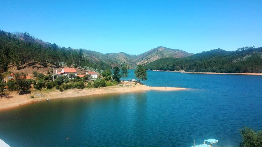 Abrantes Paradise Beach Dornes, Portugal Water Tree Mountain Clear Sky Blue Lake Sky Landscape Architecture