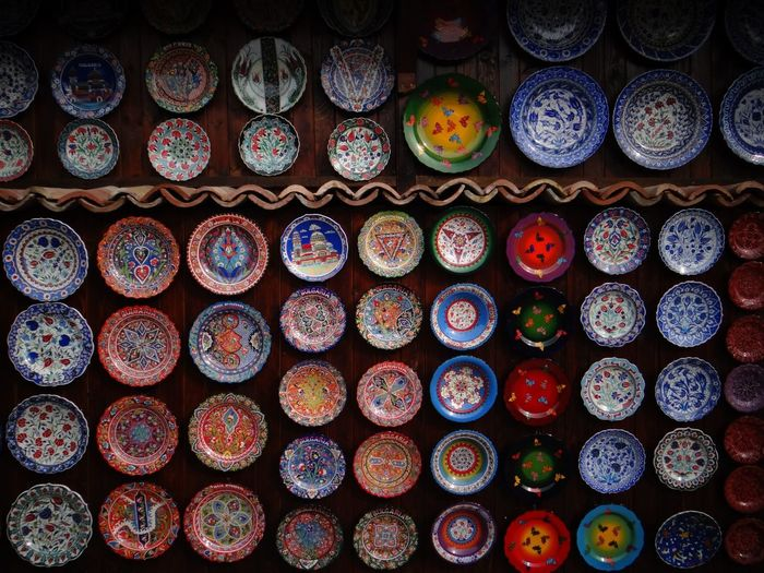 Plate Wall Bulgaria Traditional Multi Colored Display Colorful