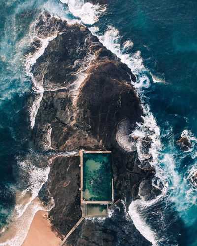 Mona Vale Aerial Photography Beach Sydney Beach Sydney Drone  Water Day No People Motion Outdoors Sea Nature High Angle View Wave Swimming Pool Built Structure Splashing Turquoise Colored Springtime Decadence My Best Photo