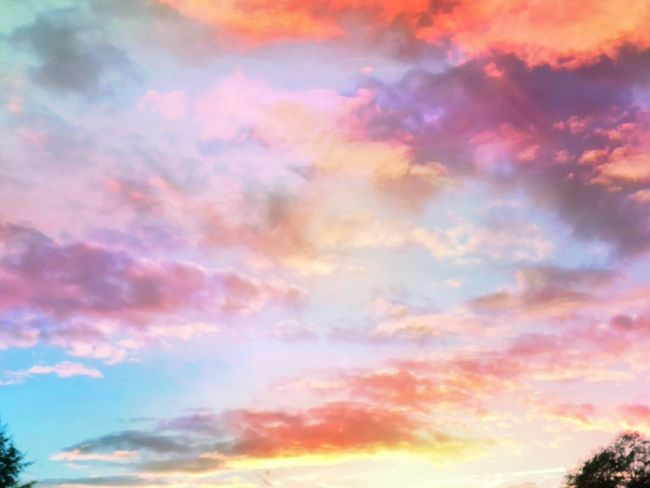 Atmosphere Atmospheric Mood Beauty In Nature Cloud Cloud - Sky Cloudscape Cloudy Dramatic Sky Environment Full Frame Idyllic Low Angle View Majestic Meteorology Multi Colored Nature Orange Color Outdoors Scenics Sky Sky Only Sunset Tranquil Scene Tranquility Vibrant Color