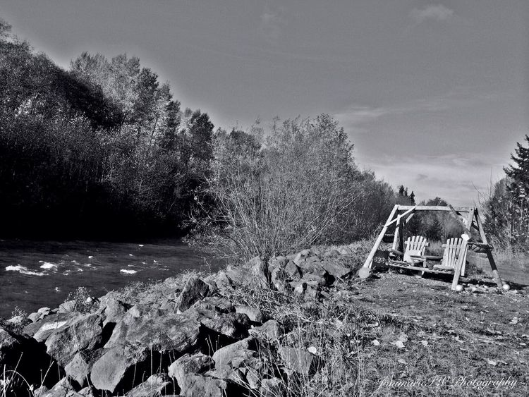 River Streamzoofamily Black & White From My Point Of View