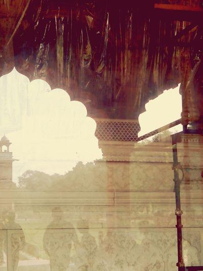 Reflected Glory Reflection Red Fort Delhi India Friends Deewan_e_aam