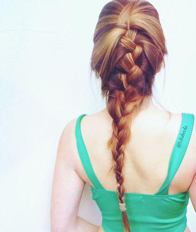 Myself Fishtail Braid Blonde Hair