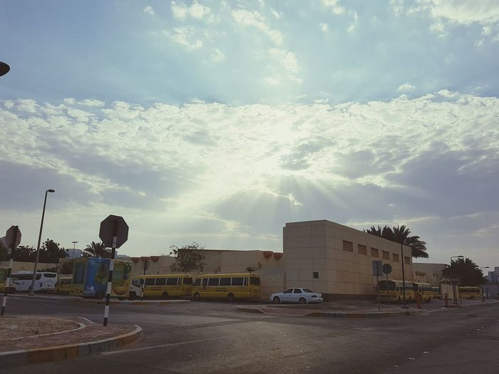 An amazing morning view to lift up the spirit! Hello World Check This Out Clouds And Sky Sunrise InAbuDhabi Enjoying Nature EyeEm Best Shots Amazing View