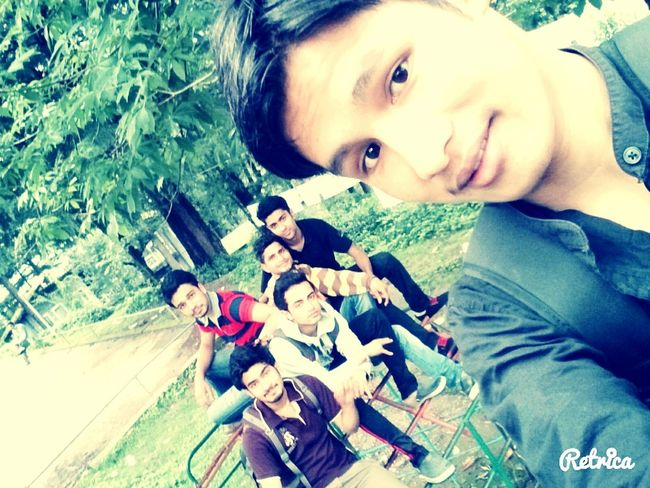 With old friends after long time Hugging A Tree