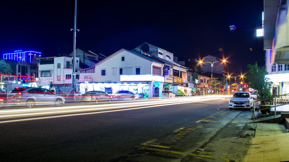 Taiping night street ASIA Perak Taiping Architecture Building Exterior Built Structure Canonphotography Car City City Life High Street Illuminated Land Vehicle Malaysia Mode Of Transport Motion Night No People Outdoors Road Sky Street Transportation