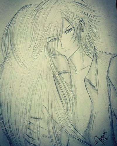 Today's draw Drawing Animeboy Animecouple Own Original Character Anime Art