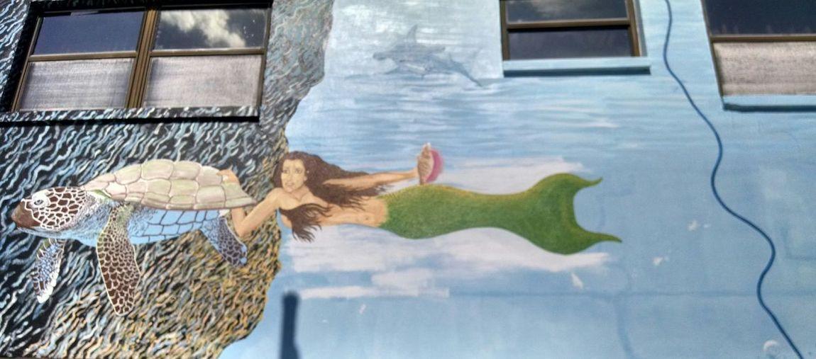Sponge Docks, Tarpon Springs, Fl Mermaid Mermaids Travel Travel Photography Travel Destinations Mural #urbanana: The Urban Playground Summer In The City