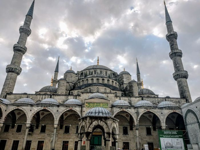 the blue mosque Dome Travel Destinations Architecture Arch Religion Tourism Built Structure Day Sky No People Outdoors