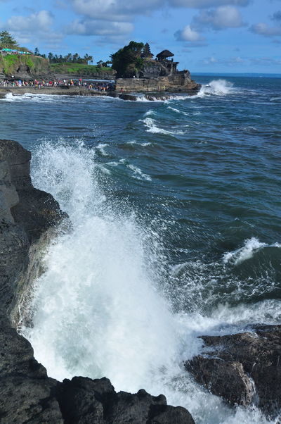 tanahlot temple Bali Indonesia INDONESIA Tanah Lot Temple Beach Beauty In Nature Blue Day Horizon Over Water Motion Nature No People Outdoors Power In Nature Rock Rock - Object Rock Formation Scenics Sea Sky Tanah Lot Tanahlot Tanahlot, Bali, Indonesia Tranquil Scene Tranquility Water Wave