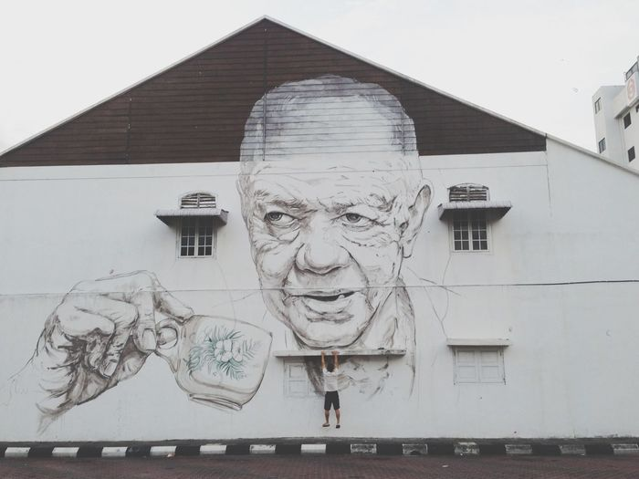Interactive street art! Ernestzach Street Art Ipoh