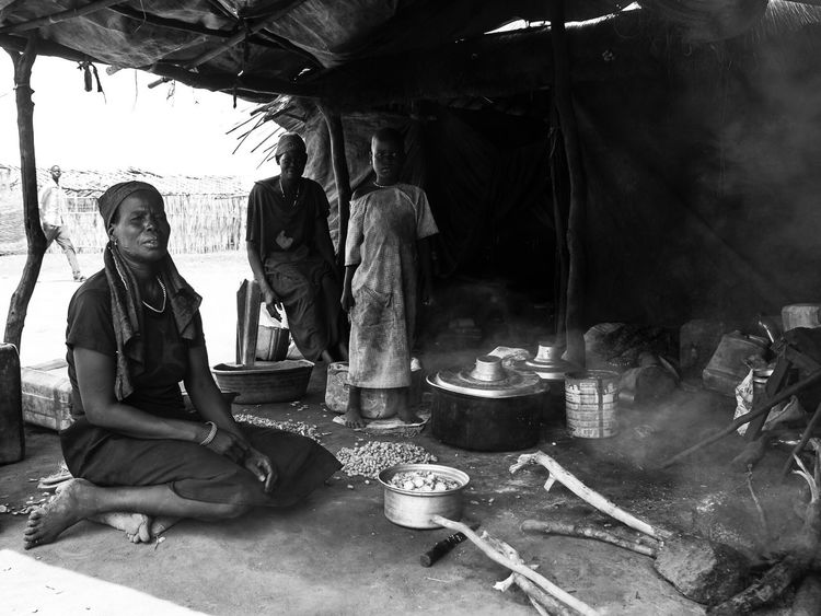 Sitting Real People One Person Indoors  Manual Worker Statue Working Religion Workshop Lotus Position Day Travel Africa Beautiful Blackandwhite