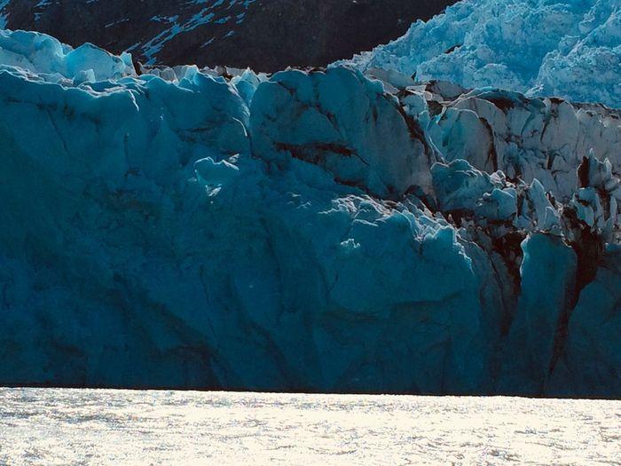 Glacier Ice Landscape Patagonia Argentina Azules Blue