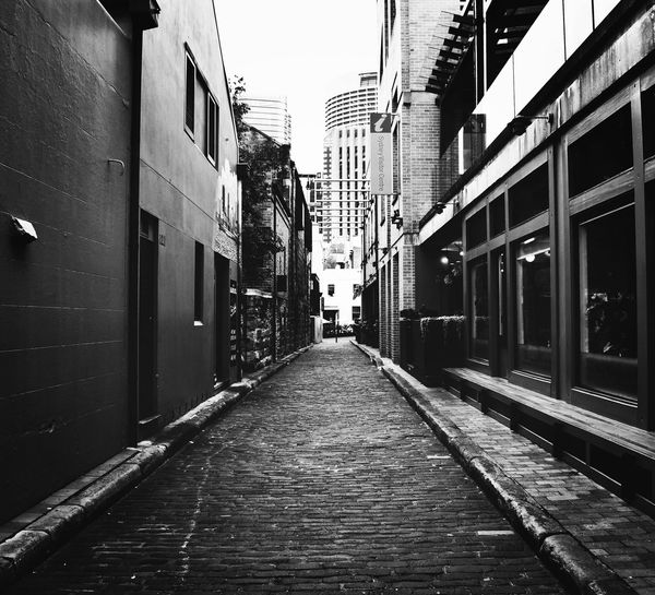 The alley Historic Blackandwhite Photography Blackandwhite Architecture EyeEm Picoftheday Photography Photooftheday Building Exterior Built Structure Architecture The Way Forward Direction Diminishing Perspective Building City Transportation No People Street vanishing point Empty Nature Residential District Clear Sky Day Sky Outdoors Footpath