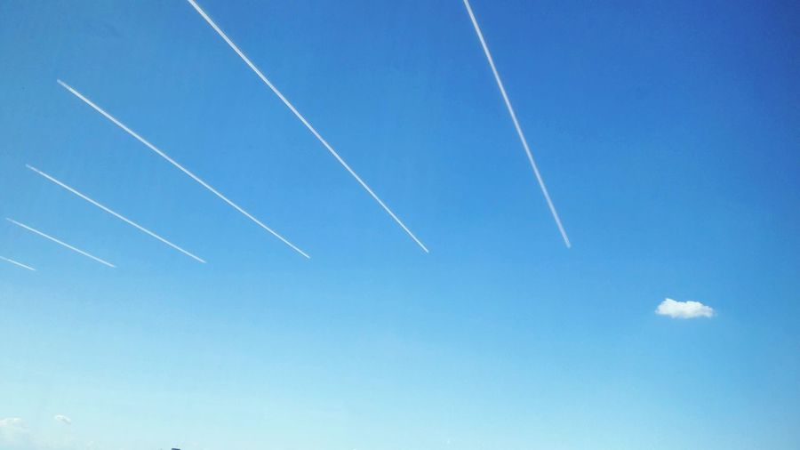 blue sky Blue Sky Blue Sky Photography Skyblue Vapor Trail Contrail Airshow Airplane Clear Sky Blue Flying Aerobatics Sky Sky Only Parallel Cumulus Fluffy Fighter Plane Meteorology Cumulus Cloud Wispy