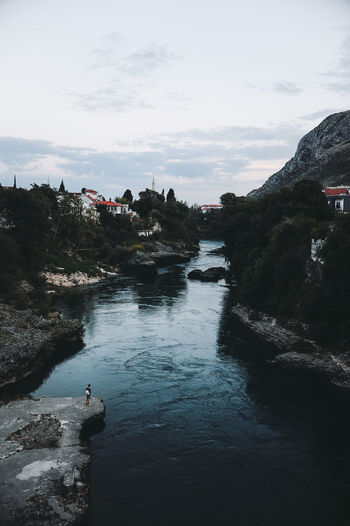 BIH Bosnia And Herzegovina Mostar Beauty In Nature Bosnia Cloud - Sky Day Nature No People Outdoors River Rock - Object Scenics Sky Tranquil Scene Tranquility Tree Water
