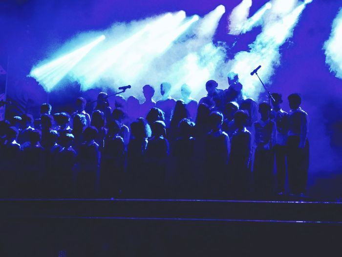 Choir Concert Arts Culture And Entertainment School ✌ Elementary Students Performing On Stage Light Effects totally mesmerising performance Be. Ready.