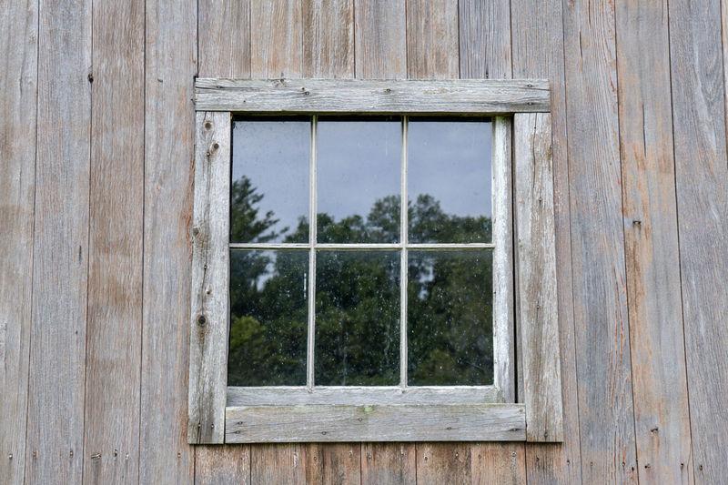 Full frame shot of window of old building