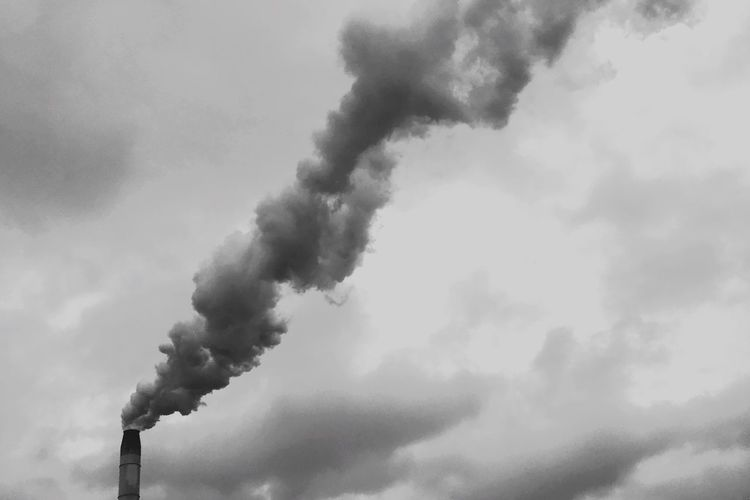 Blackandwhite PhonePhotography Mobilephotography Smoke - Physical Structure Environmental Issues Pollution Cloud - Sky Smoke Stack Emitting Sky Factory Day Environmental Damage Environment Industry No People Low Angle View Air Pollution Nature Building Exterior Outdoors Smoke Fumes The Mobile Photographer - 2019 EyeEm Awards