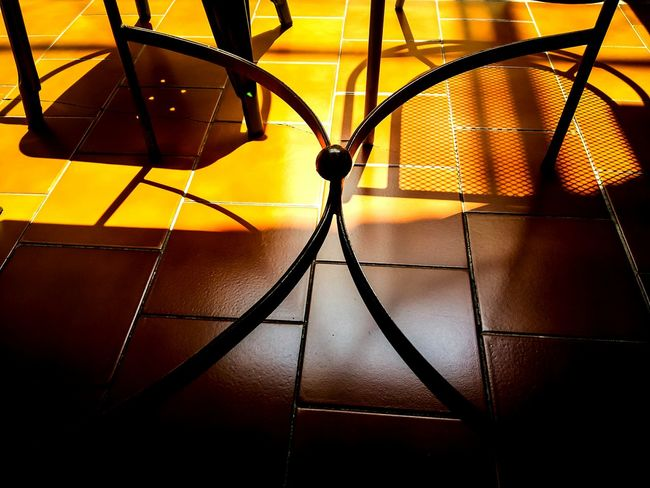 Shadows Table Chairs Yellow Color Hardlight