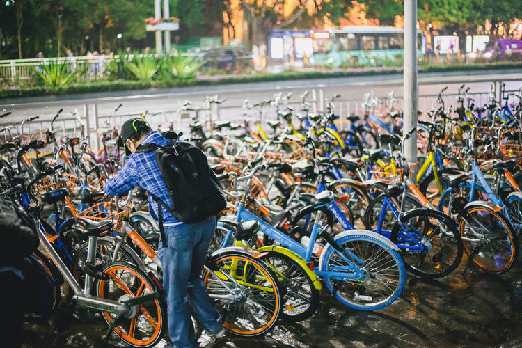 Sharing Bicycle on fire in China Bicycle Bluegogo China Photos Little Yellow Bicycle Ofo Bicycles On Fire Popular Sharing Bicycle Sharing Economy Street