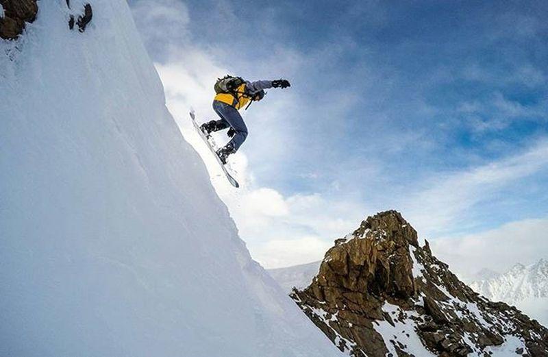 Snowboarding Snowboard Freeride Pitztal Pitztalergletscher Gopro