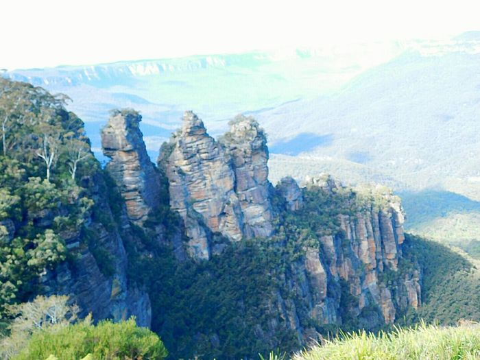 Threesisters Rock - Object Mountain Nature No People Scenics Outdoors Day Beauty In Nature Tree Sky ❤Bliss❤ Femalephotographer Nikonphotography Blue Mountains, Australia Three Sisters Blue Mountains Three Sisters Mountain Australian Landscape
