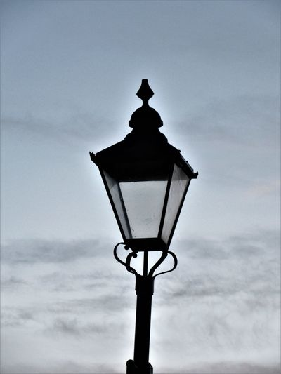 The lamp Cloud - Sky Lamp Lighting Equipment No People Outdoors Silhouette Sky Street Light