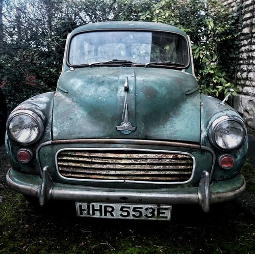 Pastel Power Car Old Car Bad Condition Grungy 1960's Seen Better Days Unloved Morris Minor 1000 Wrecked In Need Of A Friend Meinautomoment The OO Mission