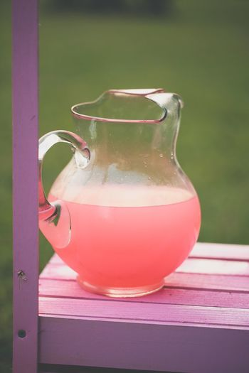Pink lemonade Healthy Eating Table Drink Close-up Food And Drink Drinking Glass No People Indoors  Freshness Day