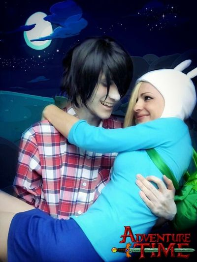Fionna, you're a human but, you're the only one that can change my world <3 Marshall Lee Fionna Adventure Time Cosplay Cosplayer Hora De Aventura Love Fiolee True Love Vampire