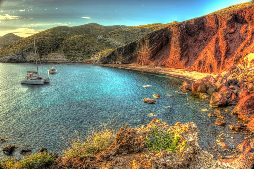 Red beach at Santorini Greece #santorini #greece #view #sunset Mountain Scenics Nature Beauty In Nature Water Tranquil Scene Mountain Range Tranquility Sky Landscape Outdoors Travel Destinations No People Cold Temperature Rock - Object Tourism Physical Geography Transportation Day Lake #landscape #landscapephotography #nature #naturephotography #cityscape #hdr #hdrimage #hdrphotography #hdr_greece #wu_greece #postitfortheaesthetic #pursuepretty #livecolorfully #livethelittlethings #thehappynow #worldplaces #wonderful_places #luxuryworldtraveler #beautifuldestinations #experiencecollector