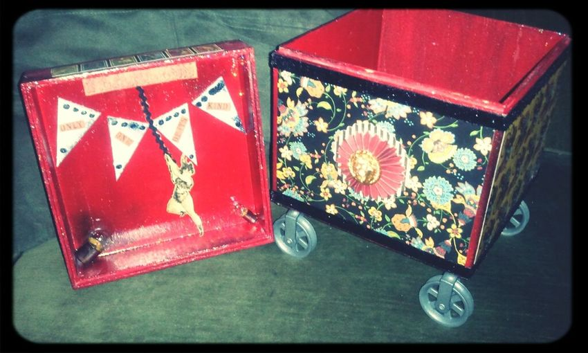 Vaudville...Vintage Circus...life in my dreams. Good Things Come In Small Packages With Lightcase Box Eye Spy Art
